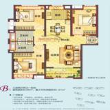 B1户型95㎡(三房两厅两卫一阳台)
